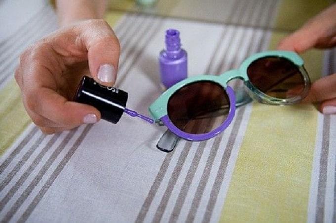 diy two tone sunglasses