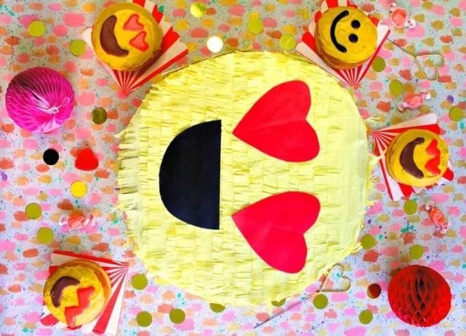 valentines day emoji pinata gift box