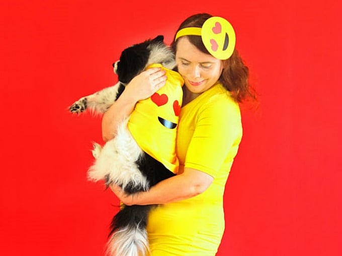 50 diy emoji craft ideas that will put a smile on your face heres a fancy dress costume that both you and your pup can enjoy brite and bubbly has created a diy emoji get up that youre going to love solutioingenieria Gallery