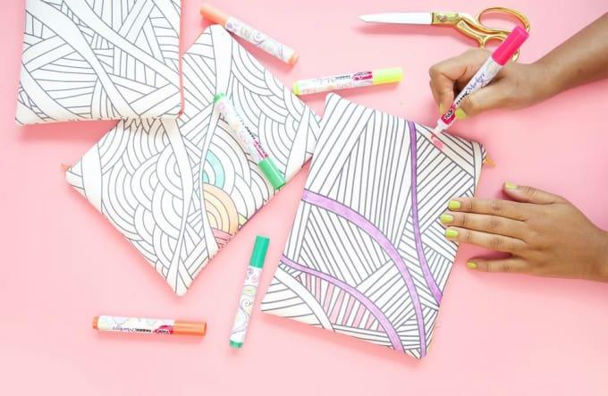 coloring book purse