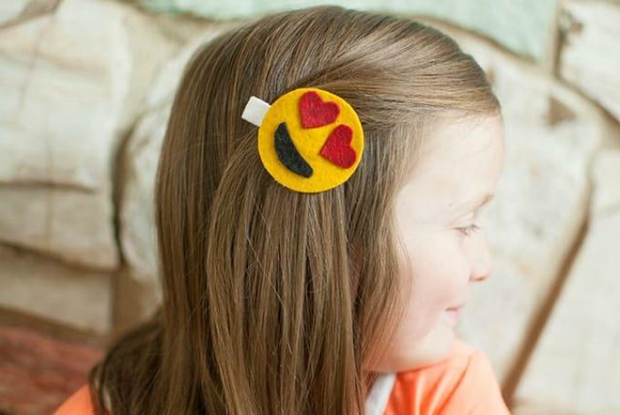 emoji hair clips