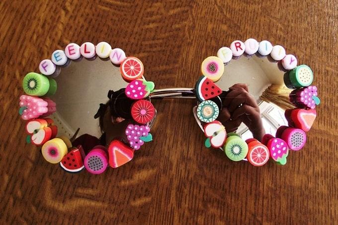 DIY fruit bead sunglasses