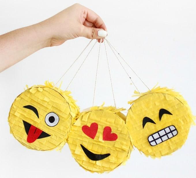 mini emoji piñata
