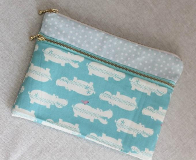 double zip pouch