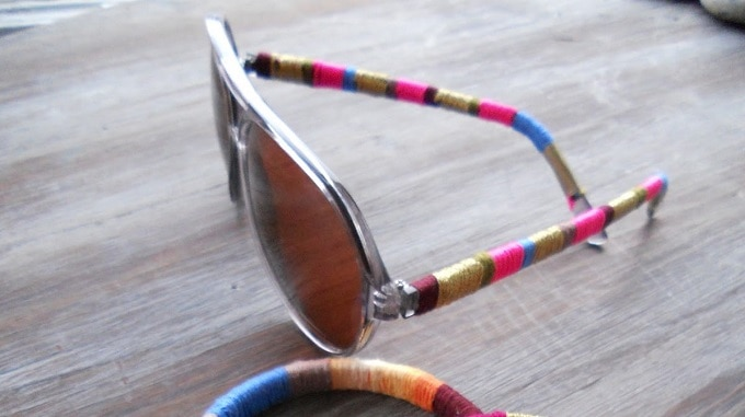 yarn-wrapped sunglasses