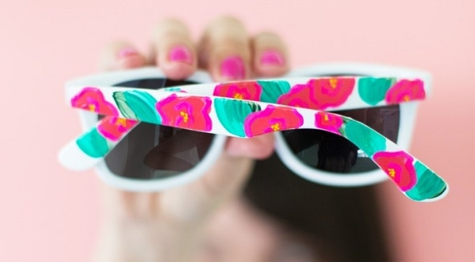 floral painted sunglasses
