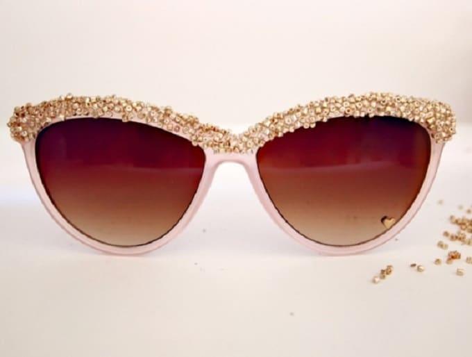 diy embellished sunglasses