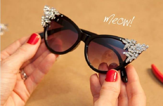 cats' eye sunglasses