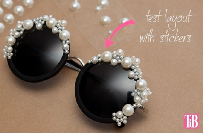 pearl-adorned sunglasses