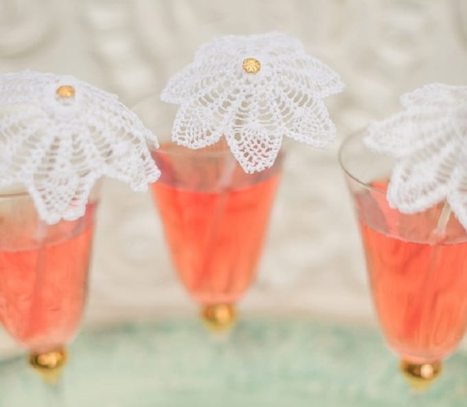 doily drink stirrers