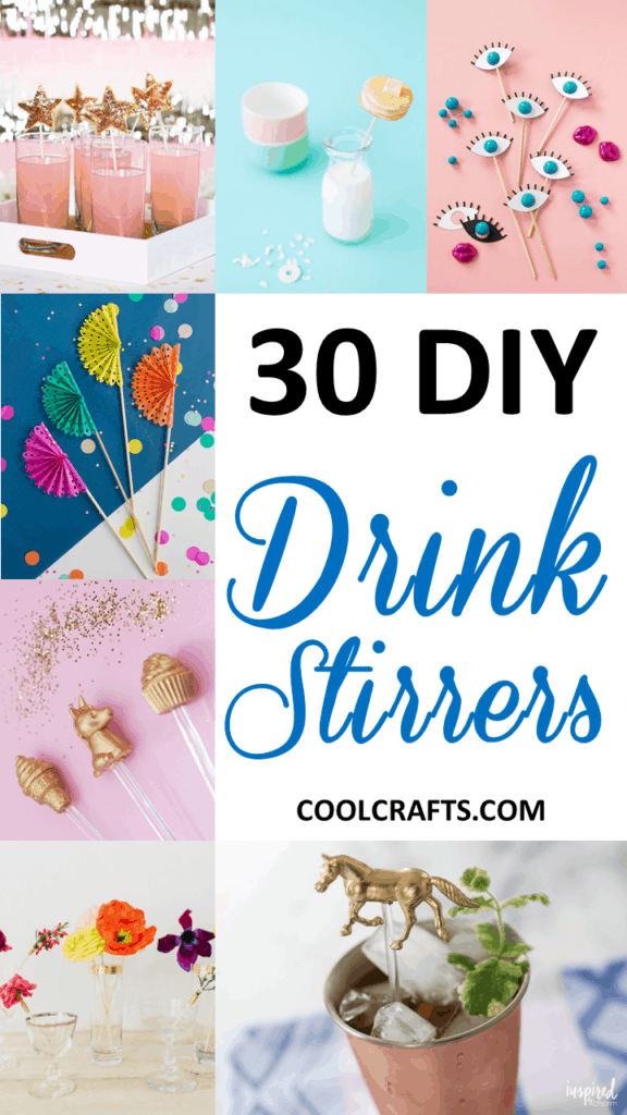 30 DIY Ways to Decorate Your Drink Stirrers