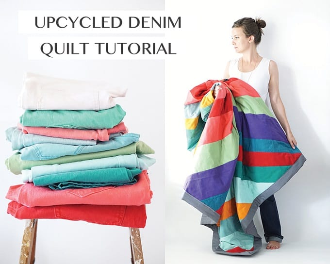 upcycled jeans quilt