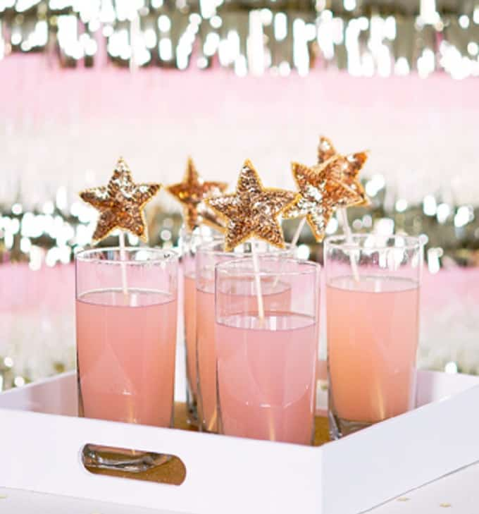 sequin star drink stirrers