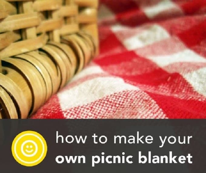 making your own picnic blanket