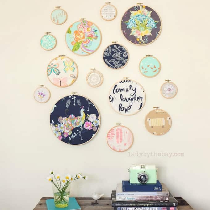 diy embroidery hoop wall art
