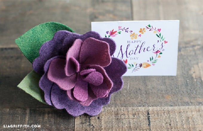 mothers day felt flower