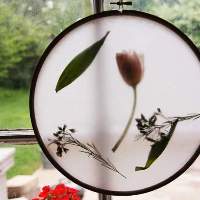 diy embroidery hoop sun catcher
