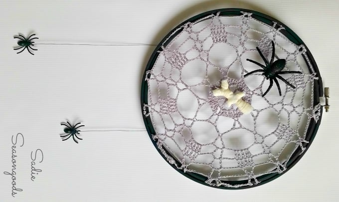 creepy crawly crochet spider web doilies