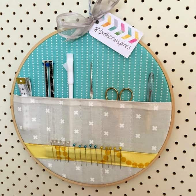 embroidery hoop storage pockets tutorial