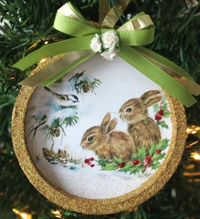 mini embroidery hoop ornament