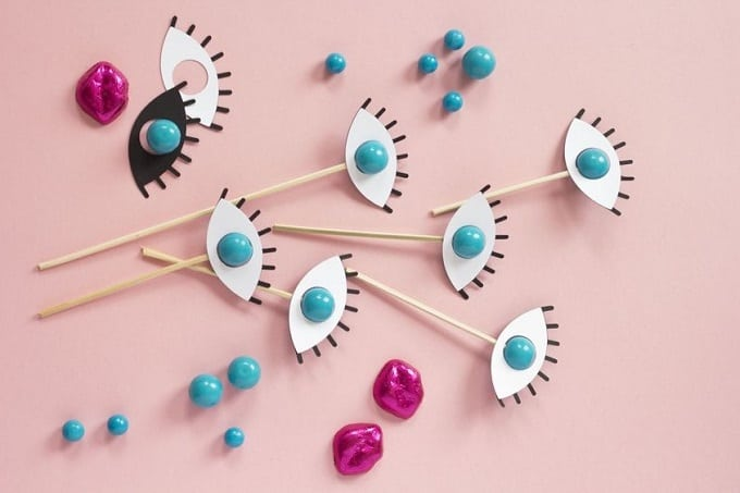 gumball eye drink stirrers