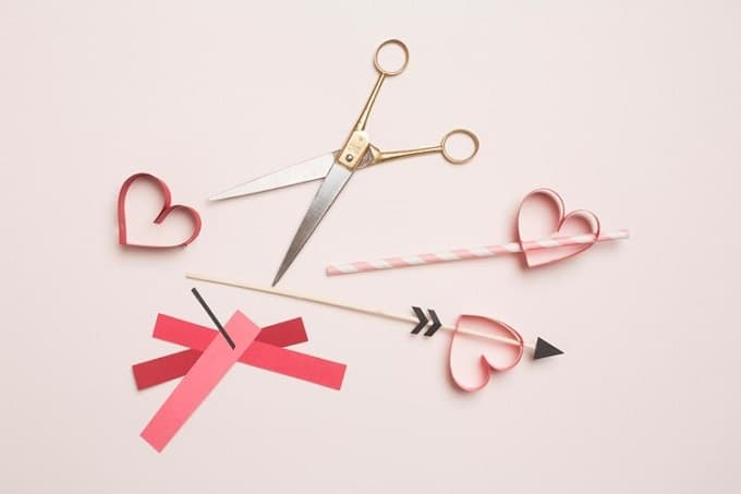 valentines day party heart straws stirrers
