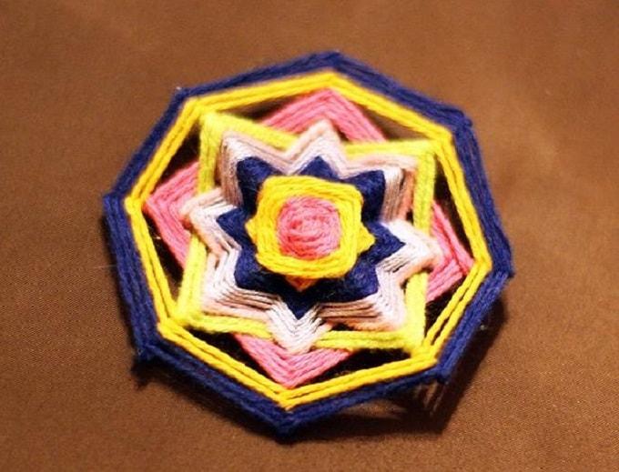 DIY mandala brooch