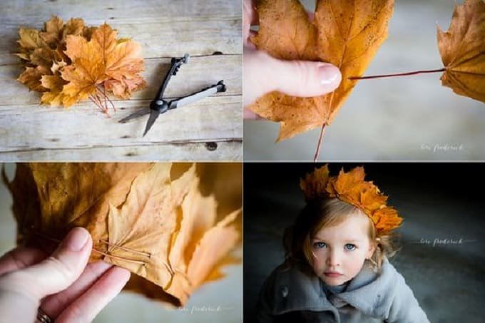 DIY Leaf Crown - Check out our list of 39 other DIY crown and tiaras that you can create for your next party | Coolcrafts.com