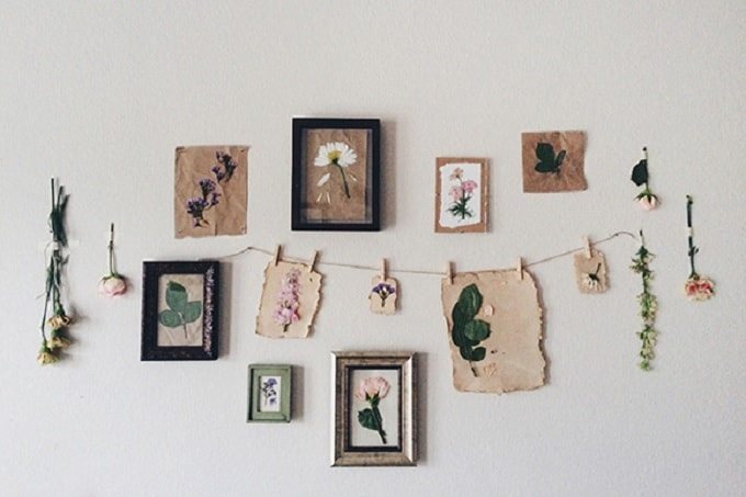 Pressed Flower Prints - We compiled a list of 39 other DIY pressed flower ideas for you to make | Coolcrafts.com