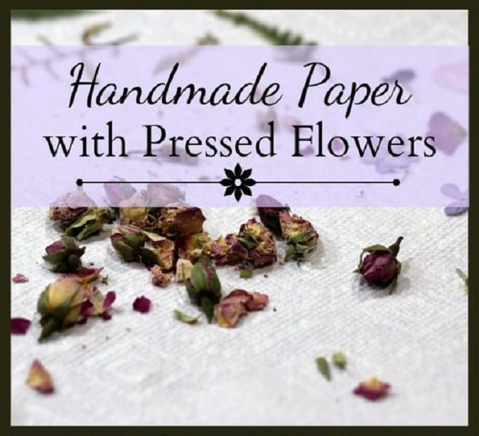 Handmade Paper Pressed Flowers - We compiled a list of 39 other DIY pressed flower ideas for you to make | Coolcrafts.com