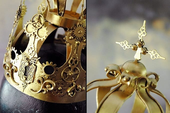 Steampunk Crown - Check out our list of 39 other DIY crown and tiaras that you can create for your next party | Coolcrafts.com