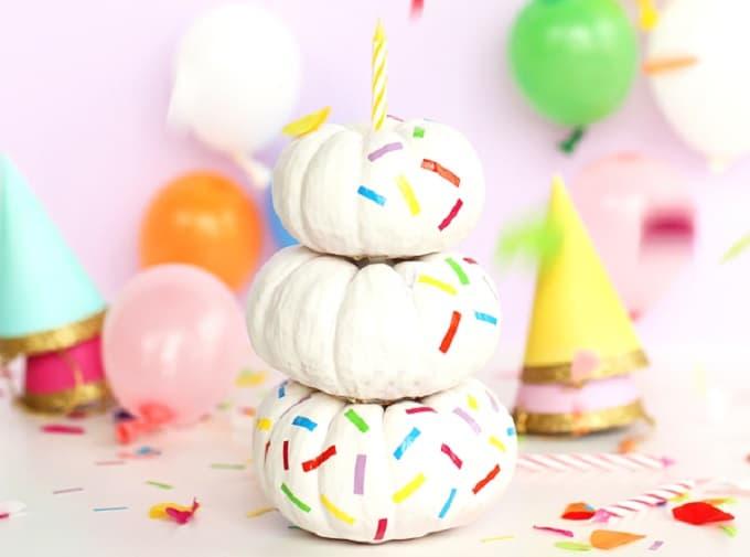 Birthday Cake Pumpkins
