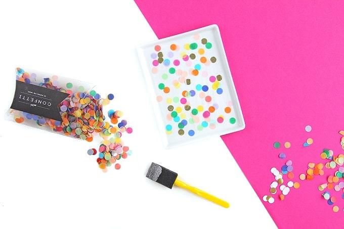 DIY confetti tray