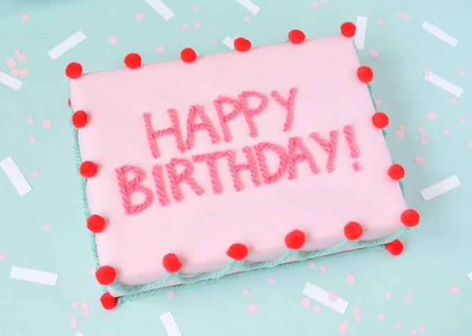 Birthday Cake Gift Wrap