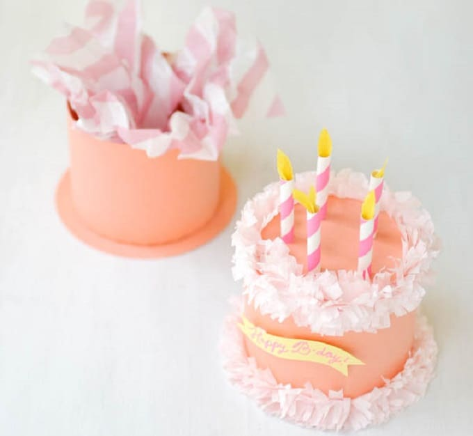Paper Birthday Cake Box