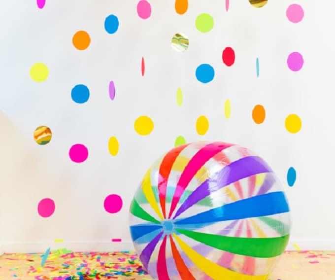 confetti photo backdrop