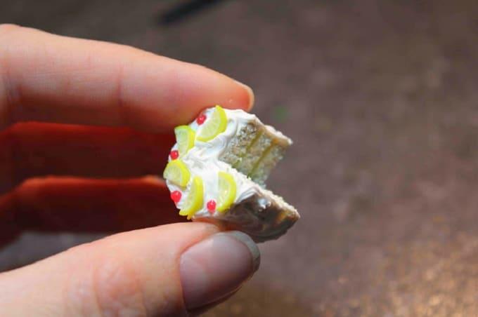 Polymer Clay Lemon Cake