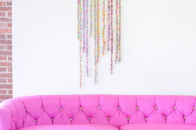 DIY confetti garlands