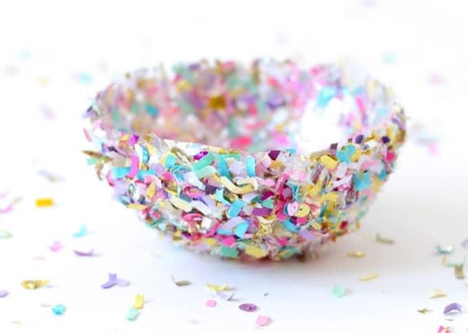 DIY confetti bowls