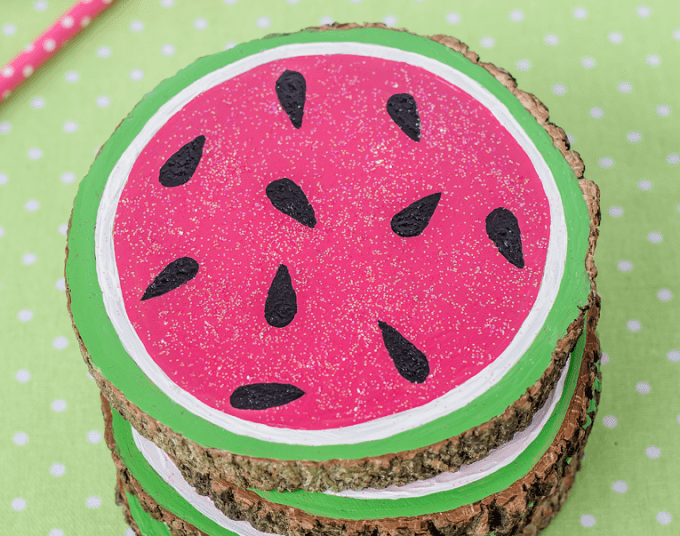 Watermelon Inspired Coasters