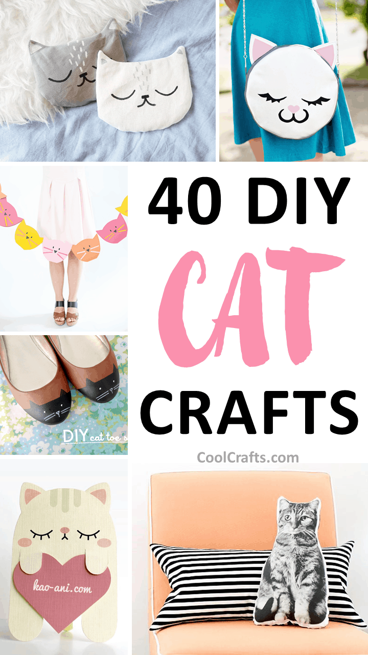 40 cutest cat crafts you can make with your kids cool crafts for Gift ideas for craft lovers
