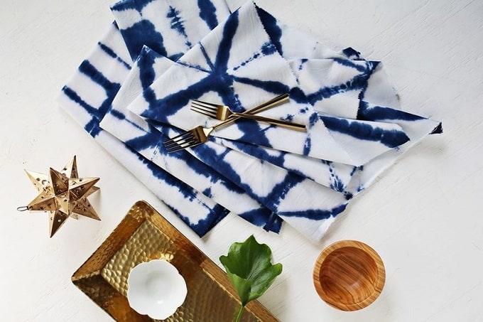 Shibori Tie-Dye Cloth Napkin Tutorial