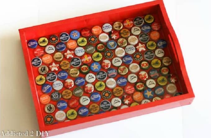 DIY Bottlecap Serving Tray
