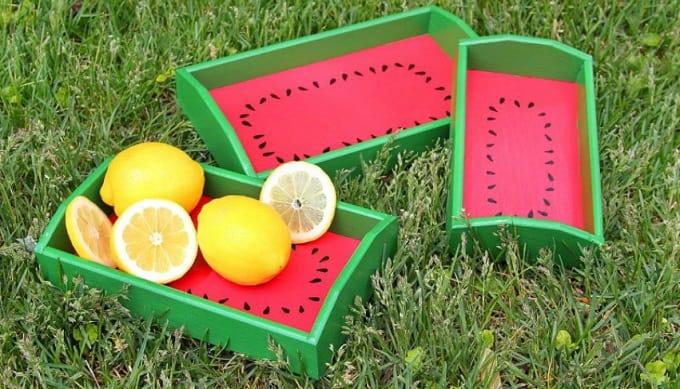 watermelon serving trays
