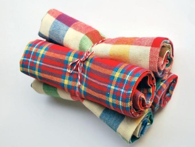 flannel napkins