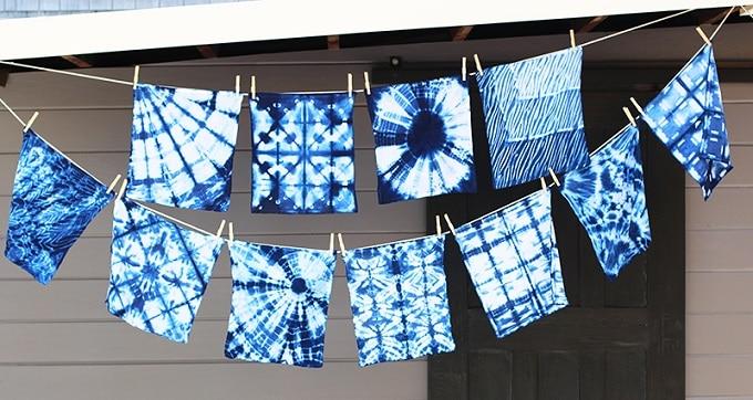 DIY Shibori fabric napkins