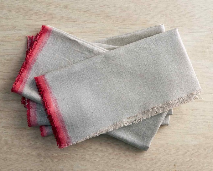 dip dyed linen napkins
