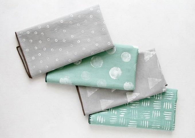 DIY stamped napkins
