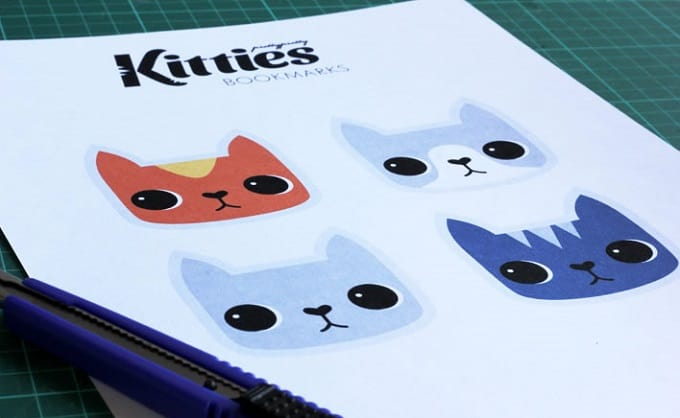 printable cat bookmarks
