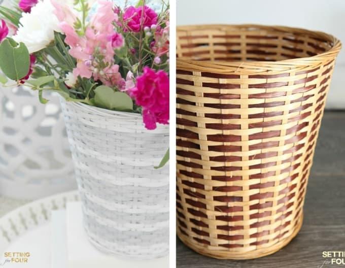 West Elm Inspired Basket Makeover